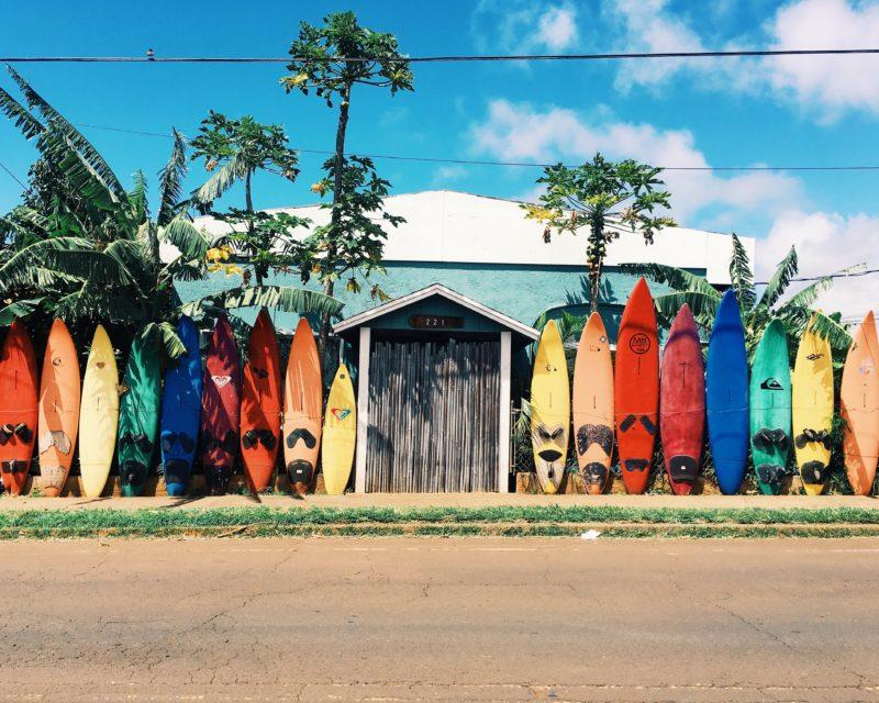 沢山のサーフボード