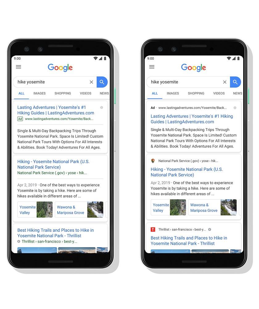 【Google】PC検索結果についてファビコンが目立つように表示変更